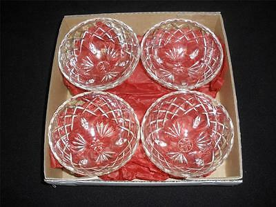 Fabulous Patterned Decorative  Footed Sweets Bowls X 4 Boxed