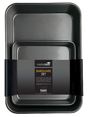 master class non-stickTwin Bakeware pack 39x28x7cm, 23x4cm sq
