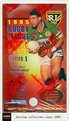 1995 Dynamic Rugby League Series (I) Trading Cards Factory Box (48 packs)
