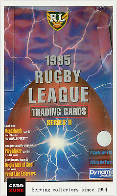 1995 Dynamic Rugby League Series 2 Trading Cards Factory Box (48 packs)