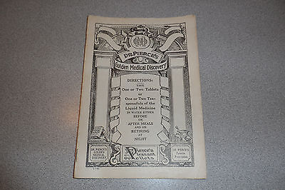 1930 DR PIERCES GOLDEN MEDICAL DISCOVERY BOOK W INSTRUCTIONS & DISPENSING FORM