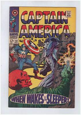 Captain America # 101  When Wakes the Sleeper grade 8.0 movie scarce hot book !!