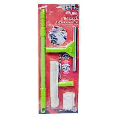 Telescopic Conservatory Window Glass Cleaning Cleaner Kit With Squeegee Brt4000