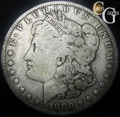 1880-O Morgan Silver Dollar Very Good VG Circulated Coin New Orleans Mint S$1 ,