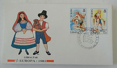 Gilbraltar 1981 EUROPA FIRST DAY COVER BY FLEETWOOD