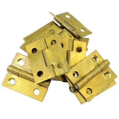 "1"" & 1/2"" High brass hinges clock case repairs parts clockmakers dolls house"