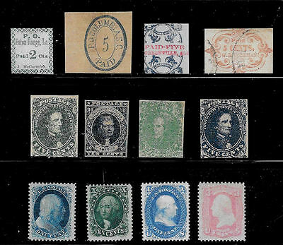 Reproductions of postage stamps of the Civil War *Fakes 034