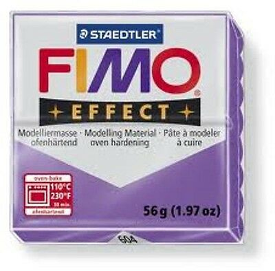 Fimo Effect Polymer Clay  - Translucent Purple No 604
