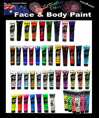 Face Paint & Body Paint 29x15ml tube Colours Artistic Den Kids Face Paint