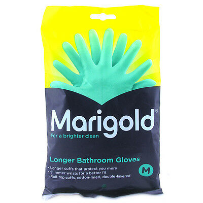 Marigold Longer Bathroom Gloves - Choice of Size - One Supplied
