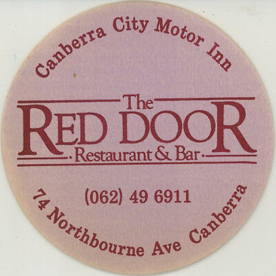 Coaster: The Red Door Restaurant & Bar, Canberra.