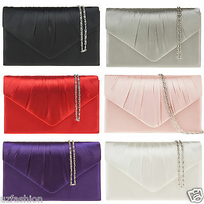 New Ladies Party Prom Bridal Evening Clutch Hand Bag Purse Handbag