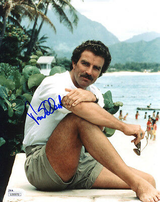 (SSG) TOM SELLECK Signed 8X10 Color Photo with a JSA (James Spence) COA