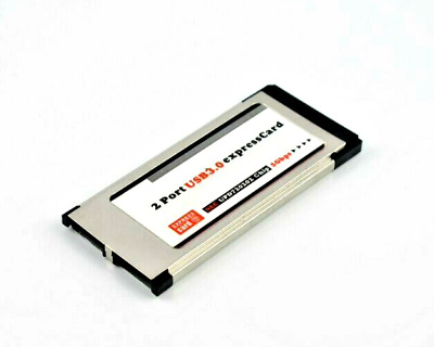 LT402 USB 3.0 Super Speed PCMCIA Express Card 34MM 54mm 2 Ports 5 Gbps Silver