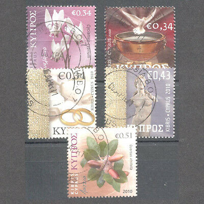CYPRUS 2010 3rd ISSUE PERSONAL STAMP USED SET