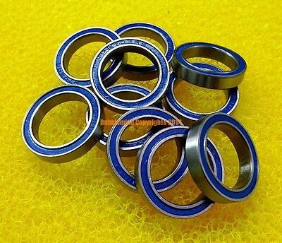 10 PCS - 6802-2RS (15x24x5 mm) ABEC-3 Rubber Sealed Ball Bearing BLUE 6802RS