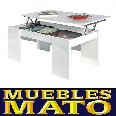 Mesa de centro elevable color gris muebles mato md zor for Catalogo de muebles mato