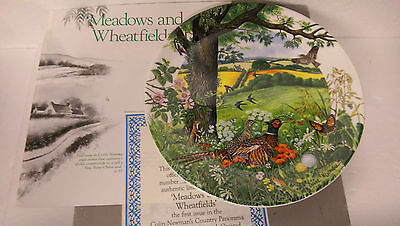 Meadows and Wheatfields Wedgwood Country Panorama Collector Plate Boxed COA