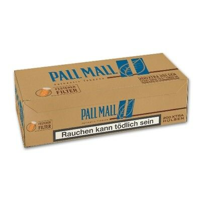 5 x 200 Pall Mall Authentic Blue Xtra Filterhülsen Hülsen
