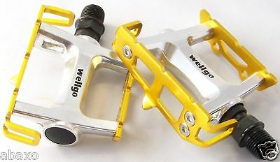 Wellgo Gold Pedals Track Fixed Gear Fixie Bike Yellow