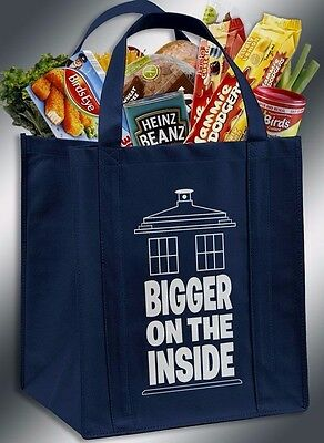Bigger On The Inside Doctor Who TARDIS Inspired Reusable Grocery Bag