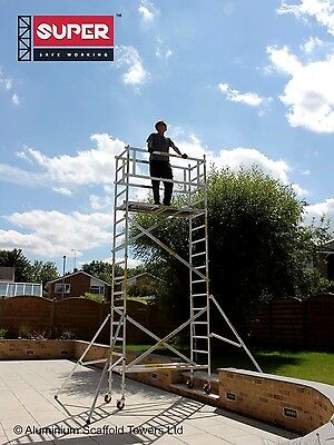 SUPER DIY 5.5M (Height Adjustable Wheels) - Aluminium Scaffold Tower / Towers