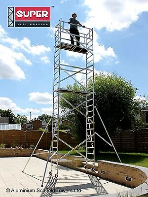 SUPER DIY 7.5M Height Adjustable Wheels - SDIY Aluminium Scaffold Tower / Towers