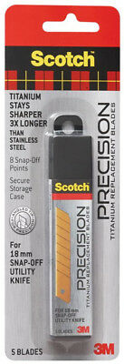 3M Scotch Precision Titanium Replacement Blades Large Utility Knife Refill 18mm