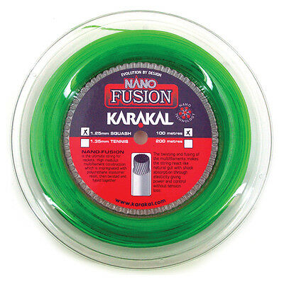Karakal Nano Fusion 1.25mm 17 Squash Strings 100M Reel