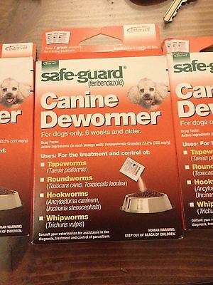Bulk order, 20 boxes Safe-Guard Canine Dewormer for Small Dogs 6 weeks - Powder