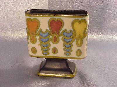 VINTAGE DECO GOUDA ART POTTERY CARD MATCH HOLDER - WELL MARKED - FREE USA SHIP
