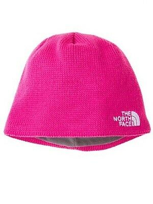 The North Face Youth Bones Beanie Hat in Razzle Pink