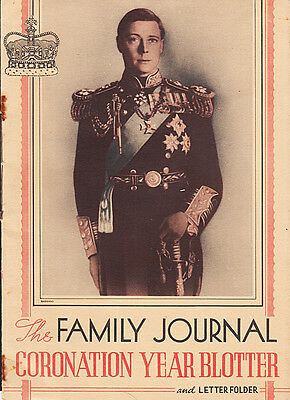 "George VI 1937 Coronation Large Ink Blotter Book......11"" x 8"".......#659CL"