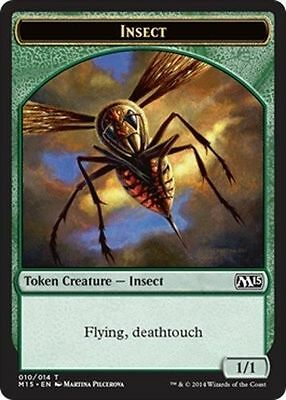 TOKEN Insetto 1/1 - Insect 1/1 MTG MAGIC 2015 M15 Eng/Ita