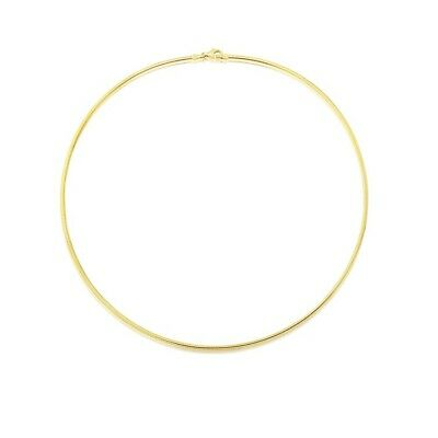 1mm 14K Gold Plated Sterling Silver 925 Italian OMEGA Chain Necklace Jewellery