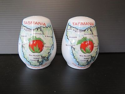 """Tasmania - The Apple Isle"" Souvenir Salt And Pepper Shakers"