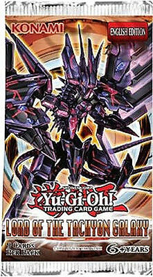 1 x Booster Pack Lord of the Tachyon Galaxy Yugioh 9-Card Sealed English LTGY