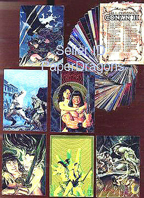 CONAN All-Chromium Series 2 - 90 Card Art Set - FREE US Priority Mail Shipping