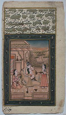 Superb antique 19th century INDIA Mughal miniature painting