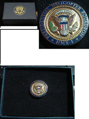 Presidential George W Bush  Presidential Helicopter Squadron Lapel Pin HMX-1