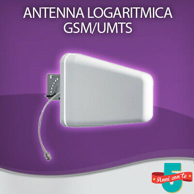 ANTENNA LOG PERIODICA 10 dBi 800 - 2500 Mhz AMPLIFICATORE GSM / 3G / LTE / WIFI