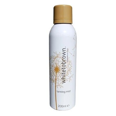 white to brown instant tanning mist 200ml