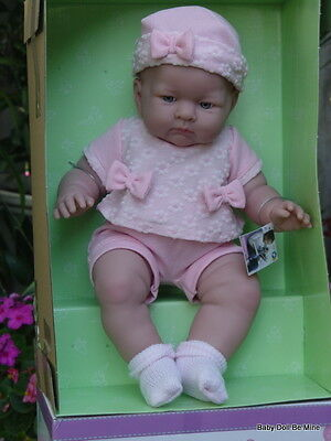"""New in Box Berenguer 18"""" * Lily In Pink Bows * Real Girl Doll * Made in Spain"""