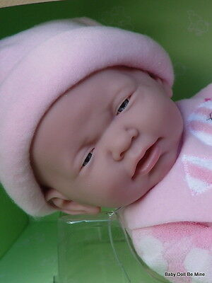"NIB * Berenguer La Newborn Real Girl * 17 "" Pink Bird *~* 2014 Award Winner *"