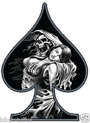 Reaper Girl And Girl Aith Spades Bumper Sticker/decal Laptop Sticker Window