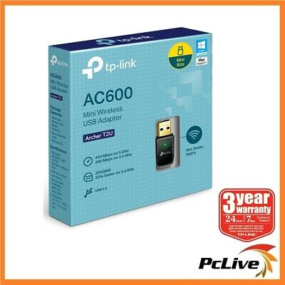 NEW TP-Link Archer T2U 600mbps Dual Band 5Ghz Wireless N USB Adapter WIFI AC 600