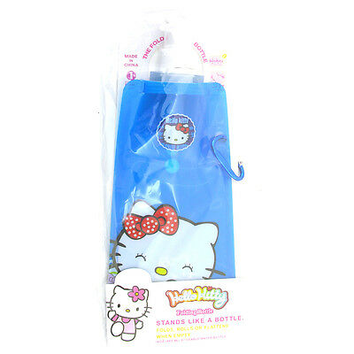Hello Kitty 480ml Folding Eco Bottle Choice of Colours One Supplied