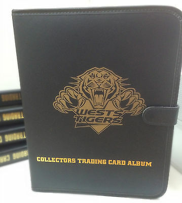 NRL CLUB Collector Card 3-Ring Album ( Inc. 10 pages)-WESTS TIGERS