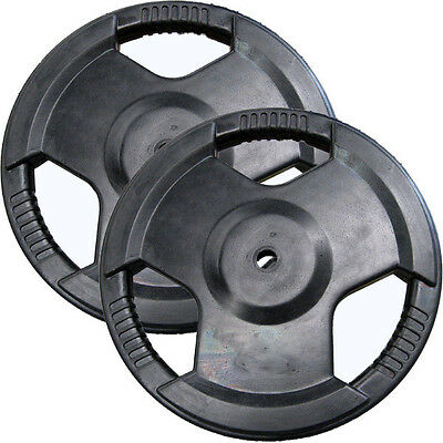 EVINCO 1.25kg-20kg Rubber Coated EZ Tri-Grip Standard Weight Plates with Handles