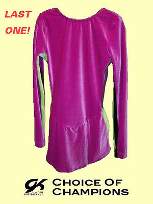 GK Elite® #937 Adult Small Purple & Green Velvet Skating Dress/Costume SAVE 33%
